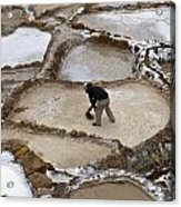 Preincan Salt Mines In Maras Peru Acrylic Print