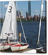 Preparing To Sail In The City. Acrylic Print