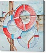 Preserver Rings On Guard Acrylic Print