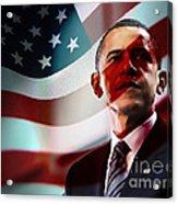 President Barack Obama Acrylic Print by Marvin Blaine