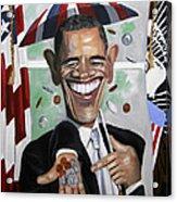 President Barock Obama Change Acrylic Print
