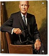 President Dwight D. Eisenhower By J. Anthony Wills Acrylic Print