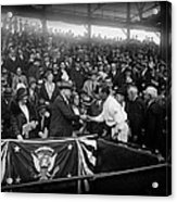 President Herbert Hoover And Baseball Great Walter Johnson 1931 Acrylic Print