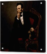 President Lincoln  Acrylic Print by War Is Hell Store