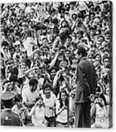 President Nixon Speaking To 2 000 Acrylic Print