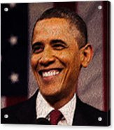 President Obama Acrylic Print by Mim White