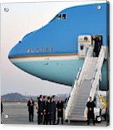 President Obama, Osan Air Base, Korea Acrylic Print