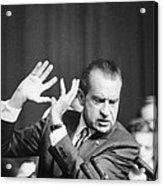 President Richard Nixon Gesturing Acrylic Print by Everett
