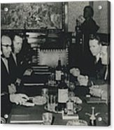 President Tito And Norwegian Premier Hold Political Talks Acrylic Print