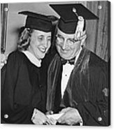 President Truman And Daughter Acrylic Print
