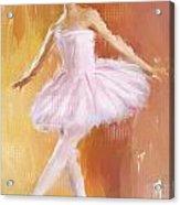 Pretty Ballerina Acrylic Print by Lourry Legarde