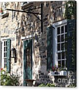Pretty Brick Building And Flower Boxes Acrylic Print