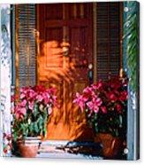 Pretty House Door In Key West Acrylic Print by Susanne Van Hulst