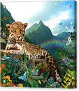 Pretty Jaguar Acrylic Print by Alixandra Mullins