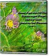 Pretty Little Weeds With Photoart And Verse Acrylic Print