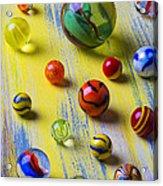 Pretty Marbles Acrylic Print