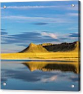 Priest Butte Reflects Into Wetlands Acrylic Print
