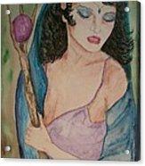 Priestess Acrylic Print by Carrie Viscome Skinner