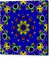 Primary Colors Fractal Kaleidoscope Acrylic Print