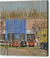 Primary Loading Docks Acrylic Print by Donald Maier