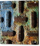 Primary. Secondary..rust... Acrylic Print