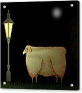 Primitive Sheep Midnight Snack By Lamplight Acrylic Print