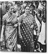 Prime Minister Indira Gandhi Acrylic Print
