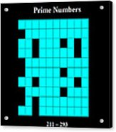 Prime Numbers As Invisible 211  293 Acrylic Print