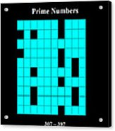 Prime Numbers As Invisible 307  397 Acrylic Print