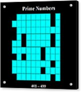 Prime Numbers As Invisible 401  499 Acrylic Print