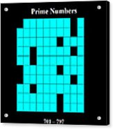 Prime Numbers As Invisible 701  797 Acrylic Print