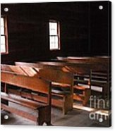 Primitive Church Acrylic Print