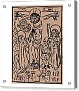 Primitive Crucifixion Acrylic Print