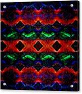 Primitive Textured Shapes Acrylic Print