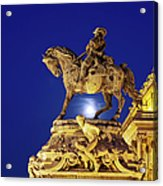 Prince Eugene Of Savoy Statue At Night Acrylic Print