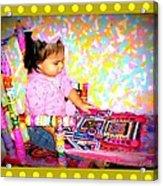 Princess Bella In The Original Magical Rocking Chair Acrylic Print by Maryann  DAmico