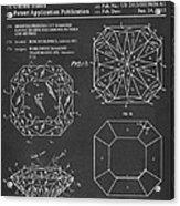 Princess Cut Diamond Patent Barcode Gray Acrylic Print