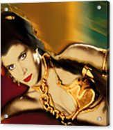 Princess Leia Star Wars Episode Vi Return Of The Jedi 1 Acrylic Print by Tony Rubino