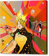 Princess Of Lightbeams Acrylic Print