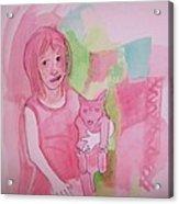 Princess With Dog Acrylic Print