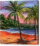 Princeville Kauai Acrylic Print by Darice Machel McGuire