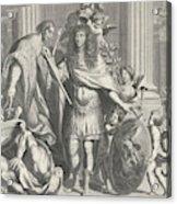 Print Of Aegidius Le Maistre 1665, Upper Part Acrylic Print