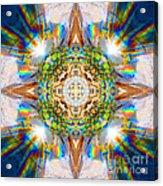 Prism Rainbow Mandala Acrylic Print