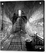 Prison Cell Black And White Acrylic Print