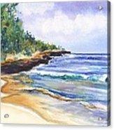 Pristine Mahaulepu Beach Acrylic Print