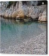 Pristine Water At Calanque D'en Vau In Cassis France Acrylic Print