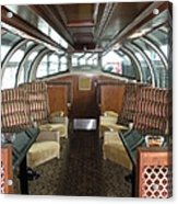 Private Dome Rail Car  Acrylic Print