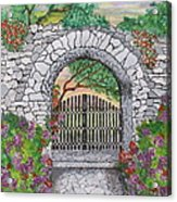 Private Garden At Sunset Acrylic Print