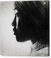 Profile Of A Young Woman In Turban Acrylic Print