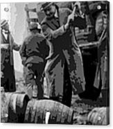 Federal Prohibition Agents Destroy Liquor 1923 Acrylic Print